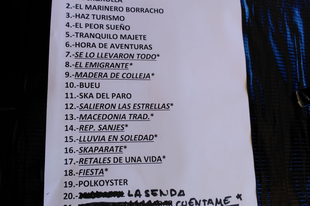 Barajas Set List